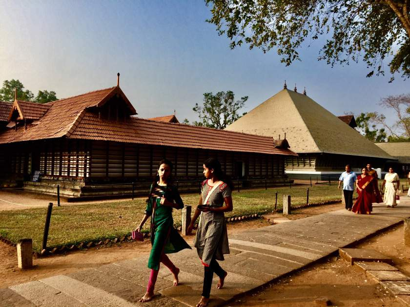 Along the path circumscribing Sanctum sanctorum at Vadakkumnathan Shiva Temple, Thrissur